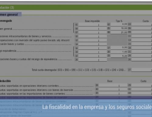 La fiscalidad en la empresa y los seguros sociales: el IVA. Parte I