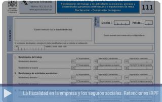 La fiscalidad en la empresa. Retenciones IRPF