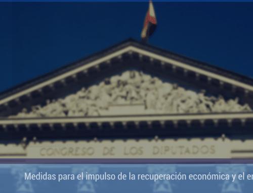 Medidas para el impulso de la recuperación económica y el empleo