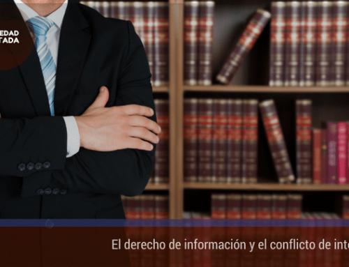 El derecho de información y el conflicto de intereses