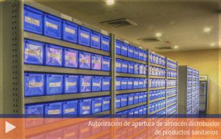 Autorización de apertura de almacén distribuidor de productos sanitarios
