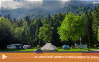 Autorización de apertura de campamentos turísticos