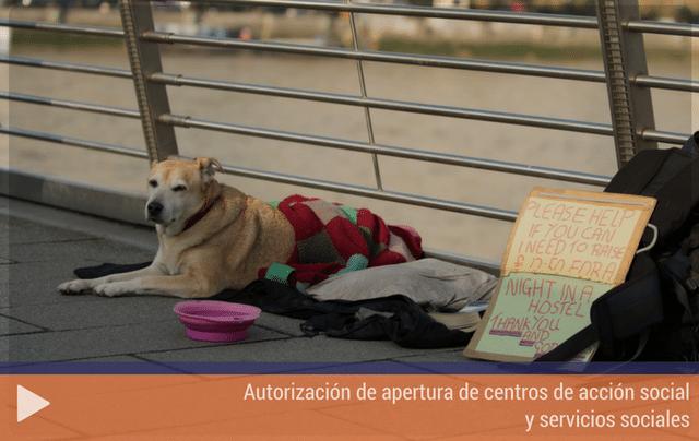 Autorización de apertura de centros de acción social y servicios sociales