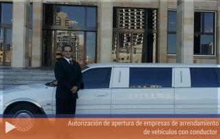 Autorización de apertura de empresas de arrendamiento de vehículos con conductor