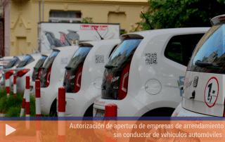 Autorización de apertura de empresas de arrendamiento sin conductor de vehículos automóviles