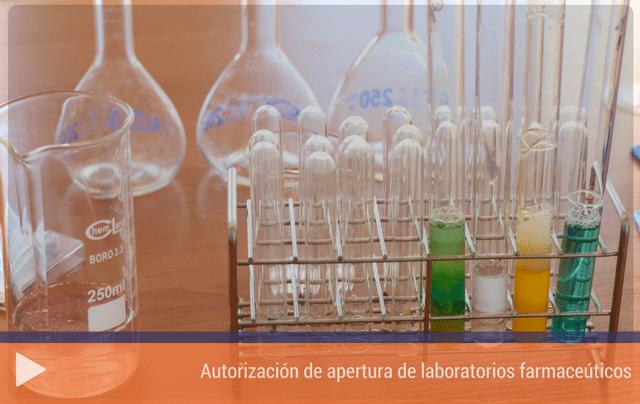 Autorización de apertura de laboratorios farmaceúticos