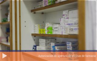 Autorización de apertura de oficinas de farmacia