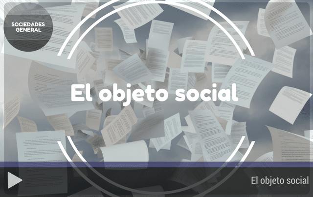 El objeto social