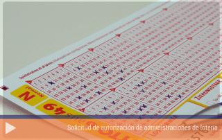 Solicitud de autorización de administraciones de lotería