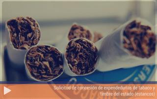 Solicitud de concesión de expendedurías de tabaco y timbre del estado (estancos)
