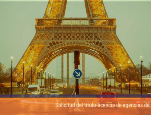 Solicitud del título-licencia de agencias de viajes
