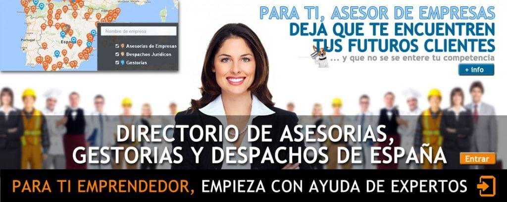Directorio asesorías, gestorías y despachos de España