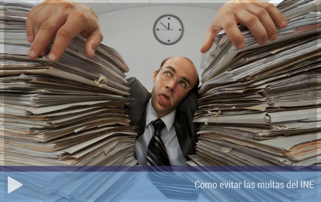Como evitar las multas del INE