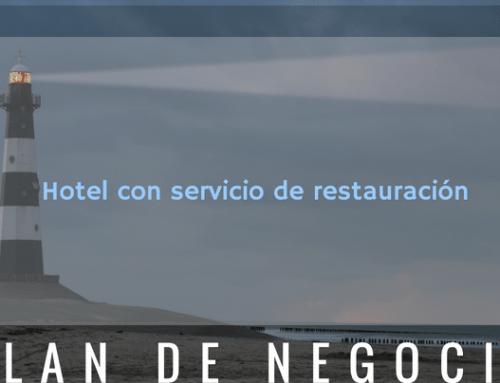 Plan de negocio de hotel con restauración