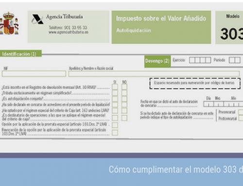 Cómo cumplimentar el modelo 303 de IVA