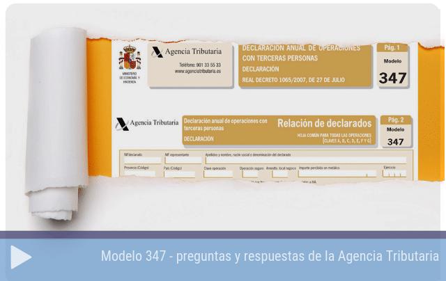 Modelo 347 - preguntas y respuestas de la Agencia Tributaria