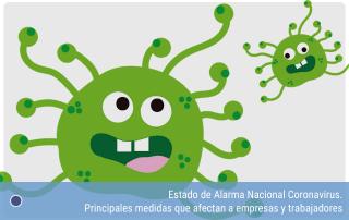 Estado de Alarma Nacional Coronavirus. Principales medidas que afectan a empresas y trabajadores