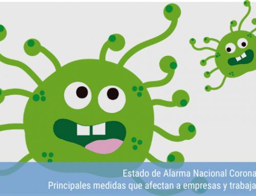 Estado de Alarma Nacional Coronavirus.  Medidas que afectan a empresas y trabajadores