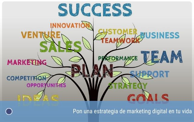 Pon una estrategia de marketing digital en tu vida