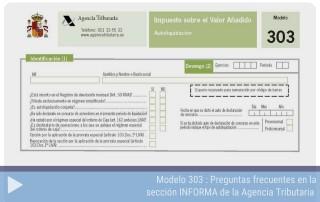 Preguntas frecuentes del modelo 303 en la sección INFORMA de la Agencia Tributaria