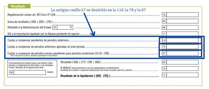 Modificación casilla 67 2021