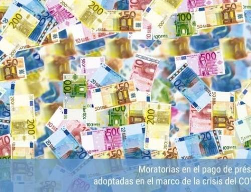 Moratorias en el pago de préstamos adoptadas en el marco de la crisis del COVID-19