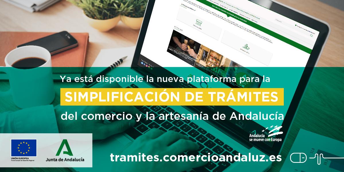 Plataforma para simplificar tramites al crear empresas del sector comercio en Andalucia