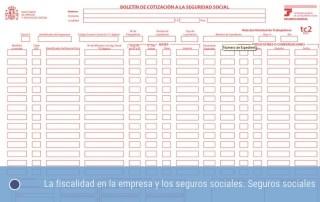 La fiscalidad y los seguros sociales - Los seguros sociales