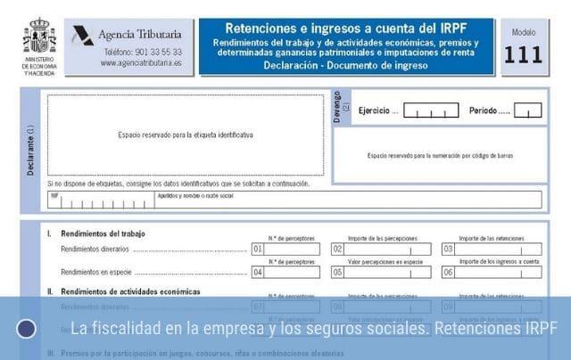 Fiscalidad - Retenciones IRPF