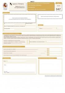 Modelo 347- Página 1 Identificación, firma, totales