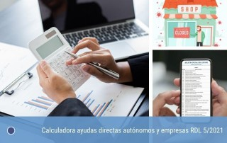 Calculadora ayudas directas autónomos y empresas RDL 5/2021