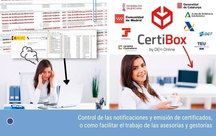 Control de las notificaciones y emisión de certificados, o como facilitar el trabajo de las asesorías y gestorías