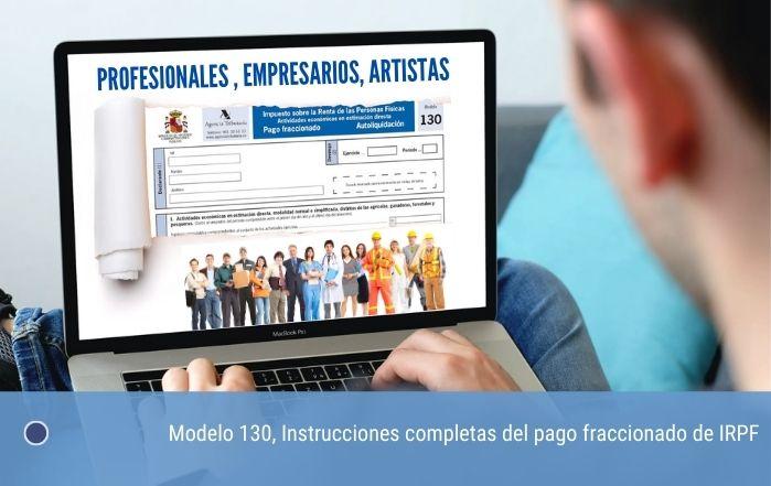 Modelo 130, Instrucciones del pago fraccionado de IRPF