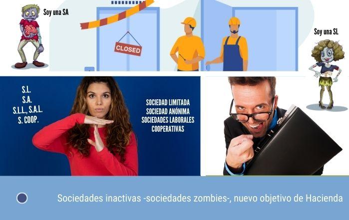 Sociedades inactivas, sociedades zombies, nuevo objetivo de Hacienda